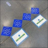 Line-Starts-Here Floor Graphics