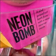 Neon-Bomb Bubble Bath Acrylic Merchandiser