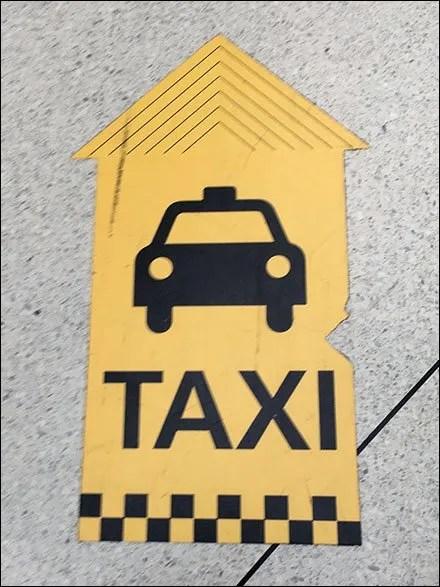 JFK Taxi Floor Graphics Breadcrumb Trail