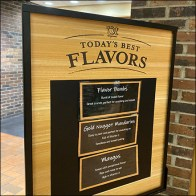 Today's-Best-Flavors Upright Sign Stand