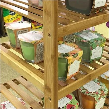 Fresh-Picked-Candle Wood Shelf Tower