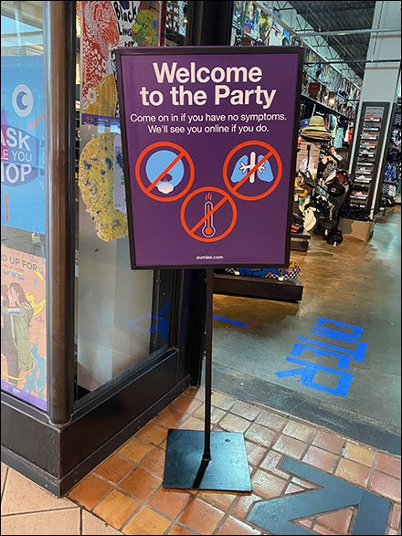Welcome-To-The-Party Social Distancing Sign