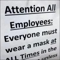 Breakroom Masks Required Notice