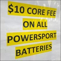 Interstate Batteries Recycling Charge Notice