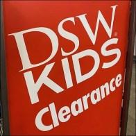 DSW Kids Shoes Rack Clearance Billboard