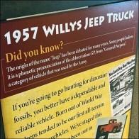 Vintage Willys Jeep Sidewalk Sign