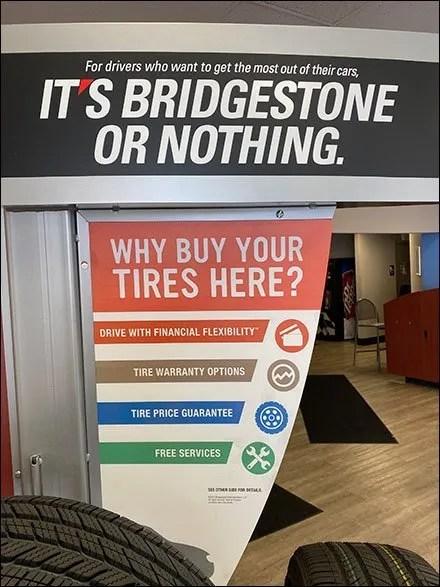 Bridgestone Asymmetric Tire Tower Display