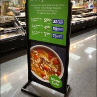 Soups On Freestanding Vertical Sign