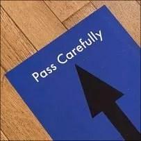 Pass Carefully Social-Distancing Advice