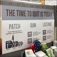 Time-to-Quit-Smoking Inline Display Auto-Feed