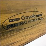 Antique Wood Stock Box Crayola Display