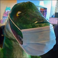T-Rex Dinosaur Face Masks In Vogue