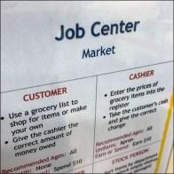 Children's Supermarket Job Center Board