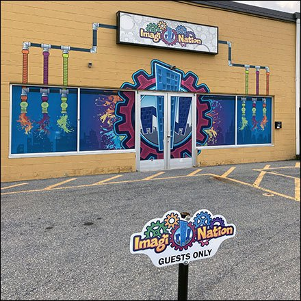 Imagi-Nation Playland Outfitting and Fixtures - Imagi-Nation Playland Storefront Branding