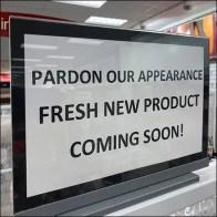 TJMaxx Fresh New Product Promise Sign
