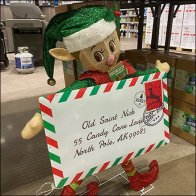 Christmas Elf Letter Carrier Scurries
