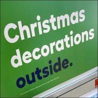 Christmas Decorations Outside Encouragement