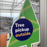 Christmas Tree Pickup Outdoor Pronouncement