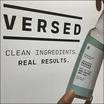 Versed Vegan-Formulated Cosmetics Endcap