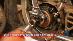 Step 19.1: Remove Flywheel Bolt & Washer