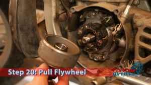 Step 20: Pull Flywheel