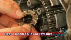 Step 8: Discard Old Lock Washer