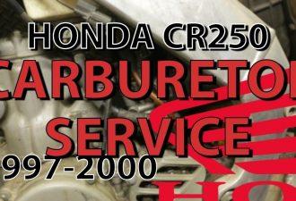 1997-2000 Honda CR250 Carburetor Rebuild