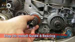 Step 36: Install Guide & Bearing
