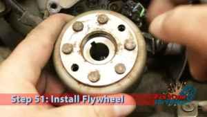 Step 51: Install Flywheel