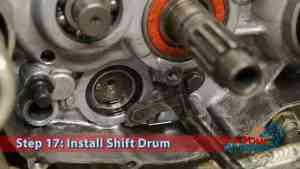 Step 17.2: Install Shift Drum