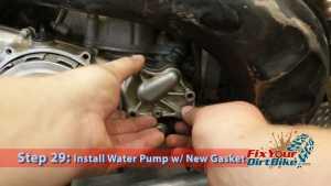 Step 29.1: Install Water Pump w/ New Gasket