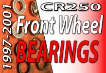 1997 - 2001 Honda CR250 - How To Change Front Wheel Bearings Feaured Image-