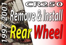 1997-2001 Honda CR250 Remove And Install Rear Wheel Featured Image