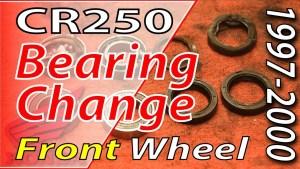 1997-2001 Honda CR250 FRONT Wheel Bearing Change