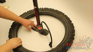 Inflate Tube In Tire