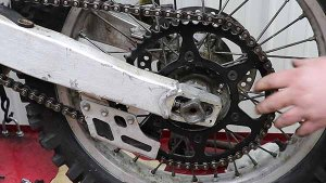 Install Drive Chain On Front And Rear Sprockets