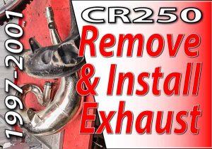 honda cr250 remove install exhaust