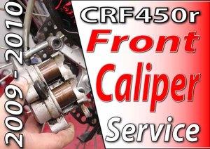 2009 - 2010 Honda CRF4504 - Brakes - Front Caliper Service