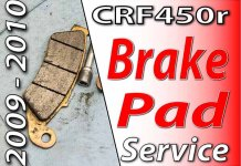 2009 - 2010 Honda CRF450r - Brake Pad Service Featured Image