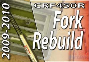 2009-2010 Honda CRF450r - Front Fork Rebuild - Featured