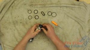 26 - Install New Fork Cap O-rings