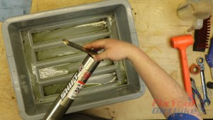 4 - Unscrew Damper Unit From Fork Tube