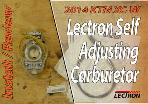 Lectron Carb Review And First Ride - Lectron Self Adjusting Carburetor - Featured