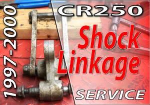 1997 - 2001 Honda CR250 - Rear Suspension - Shock Linkage Service - Featured