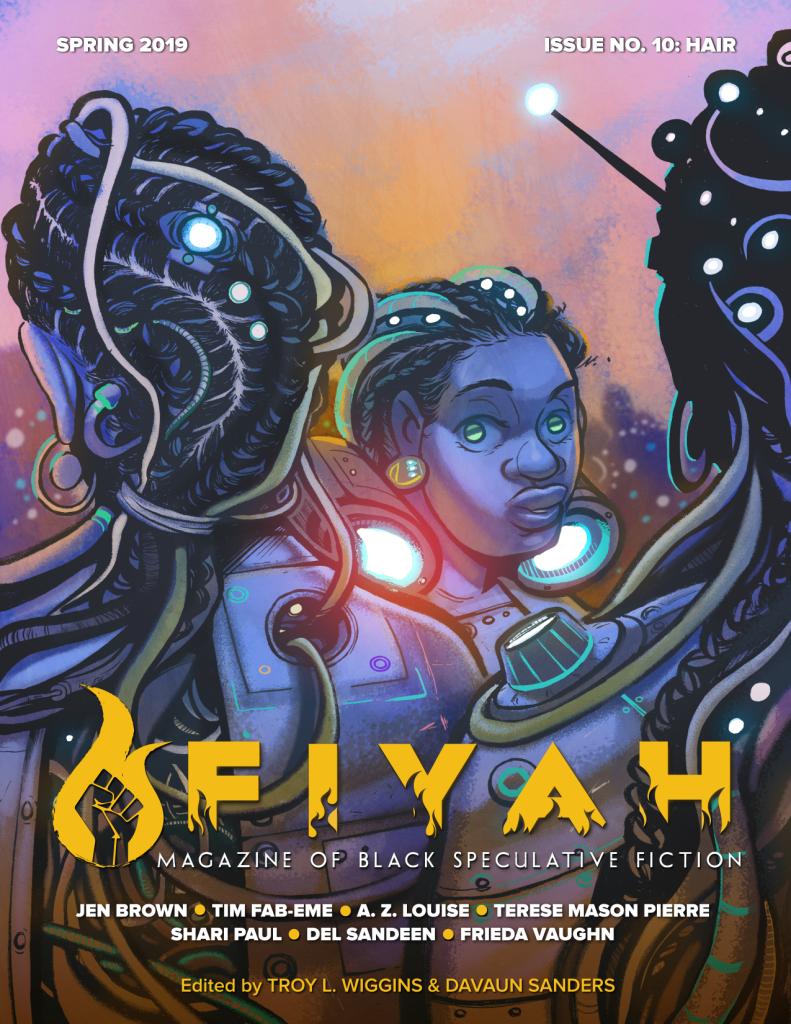 cover of FIYAH #10: Hair. Artwork by Olivia Stephens