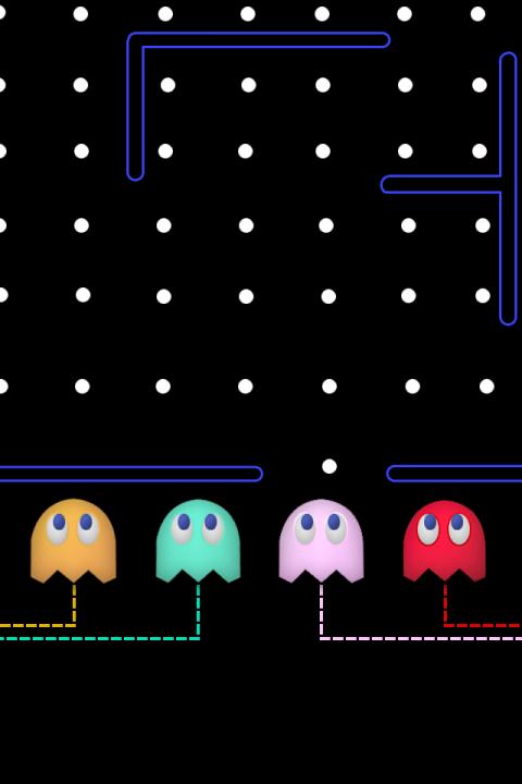 Retina wallpaper Pacman