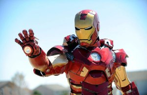 Awesome Iron Man Costume Includes Motorized Mask, Shoulder Weapons