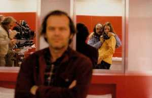 Behind the scene photo from The Shining