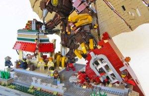 LEGO recreation of Songbird from Bioshock Infinite