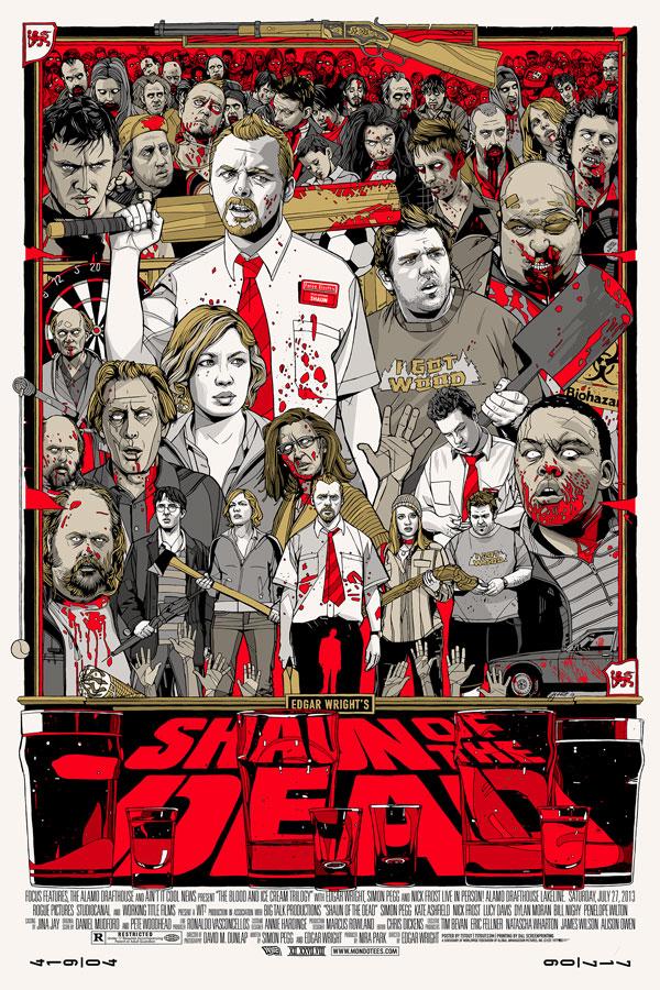 SHAUN OF THE DEAD Mondo Poster